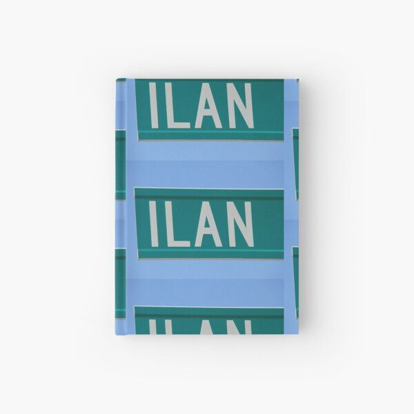 Ilan, Gift for Ilan, Hebrew name,  Hardcover Journal