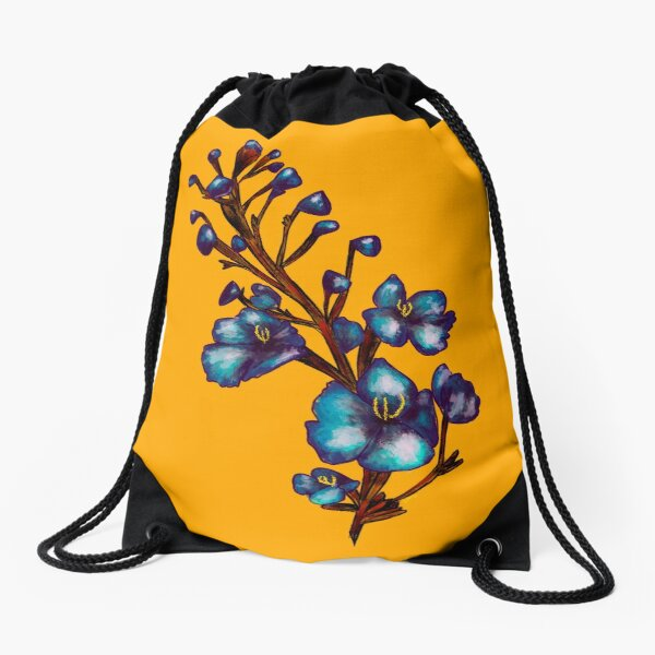Flower- Goldenrod Drawstring Bag