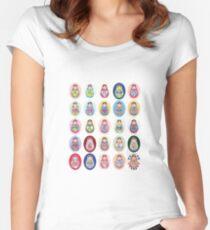 cute doll matryoshka Women's Fitted Scoop T-Shirt