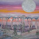 Moon Sunset Wash by aaron a amyx