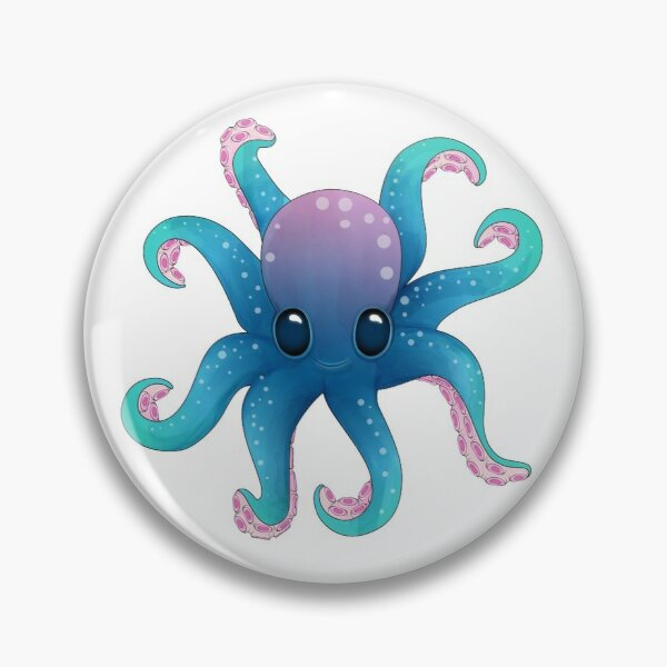 Octopus friend_Pattern Pin