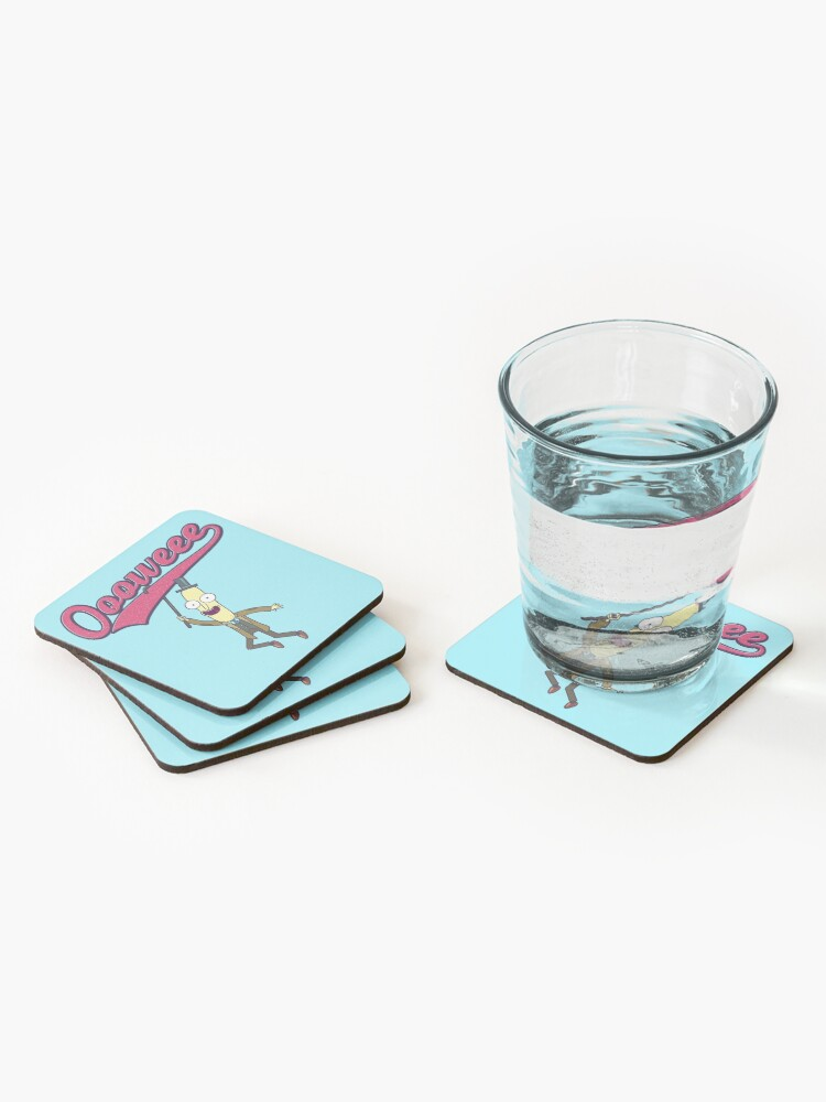 Alternate view of Professor Poopybutthole, Oooweee Coasters (Set of 4)