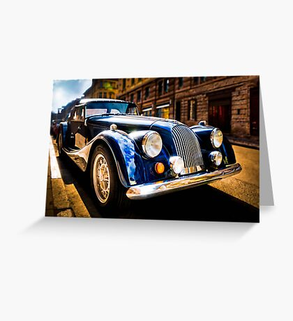 The Morgan Plus 8 in backlight Greeting Card