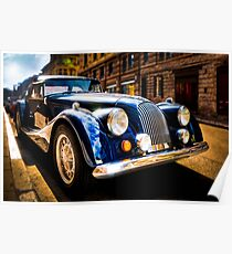 The Morgan Plus 8 in backlight Poster