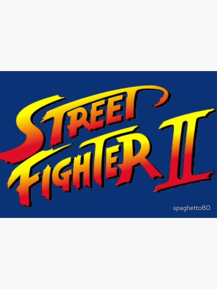 Street Fighter Ii Logo Art Board Print By Spaghetto80 Redbubble