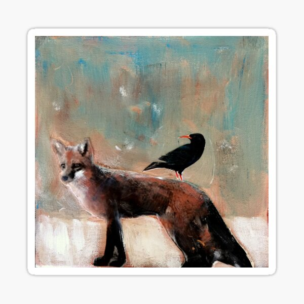 The Fox and Crow  Sticker
