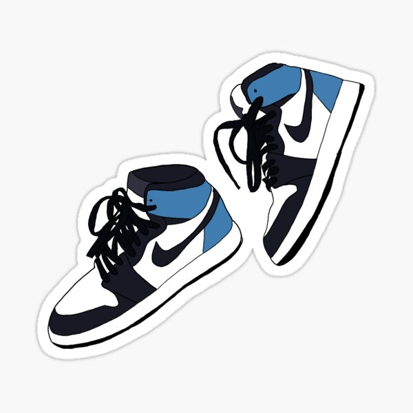 Obsidian shoes blue Sticker
