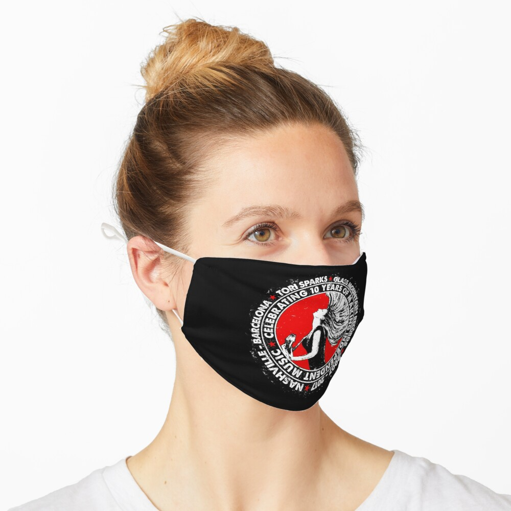 Tori Sparks + Glass Mountain Records 10th Anniversary (Red) Mask