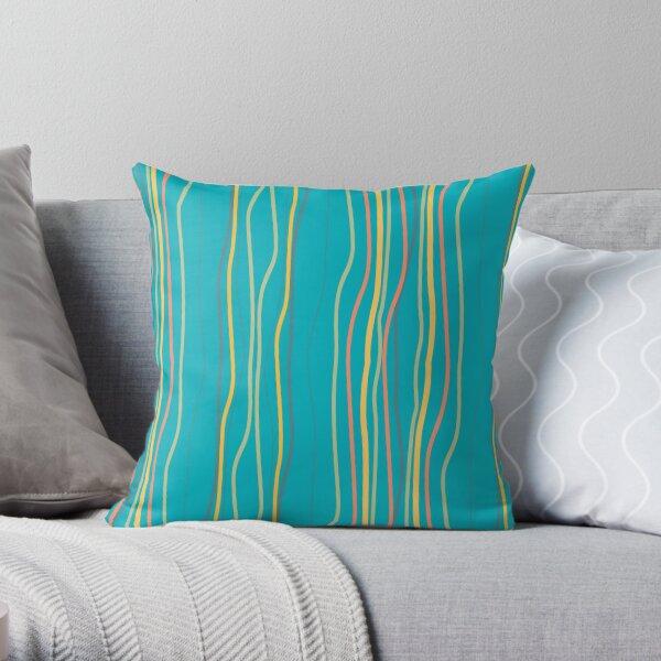 Summer Rich Stripe Aqua (PCD3009) Throw Pillow