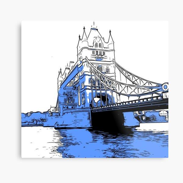 Tower Bridge, London.  Metal Print