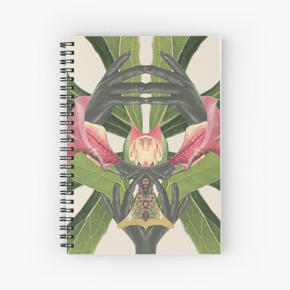 Flower of Birth - collage art, nature Spiral Notebook
