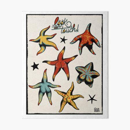 Starfish booty tattoo flash Art Board Print