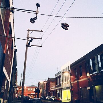 Shoes on Power Lines in Collingwood by Robotmangreg