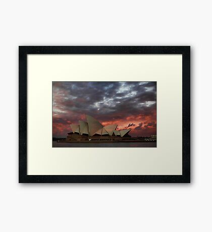 Opera House Sunset Framed Print