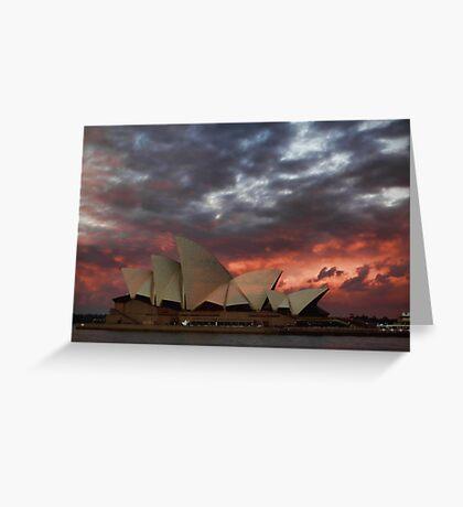 Opera House Sunset Greeting Card