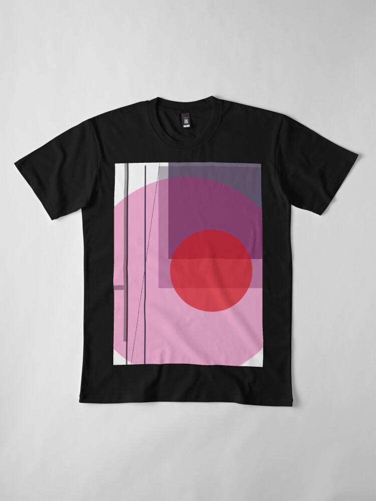 Alternate view of GEO POP WHITE Premium T-Shirt