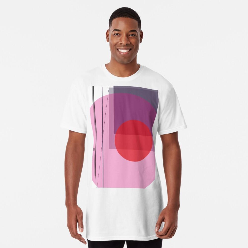 GEO POP WHITE Long T-Shirt