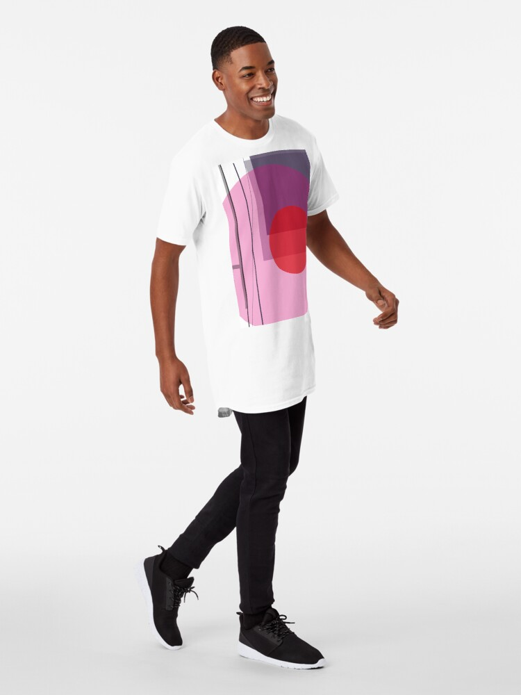 Alternate view of GEO POP WHITE Long T-Shirt