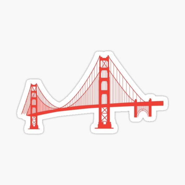 California's Golden Gate Bridge Span Sticker