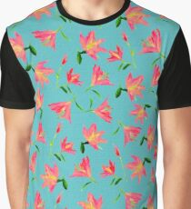 Pink Flowers * Pattern Graphic T-Shirt