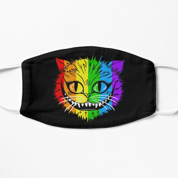 Rainbow Cheshire Cat Flat Mask