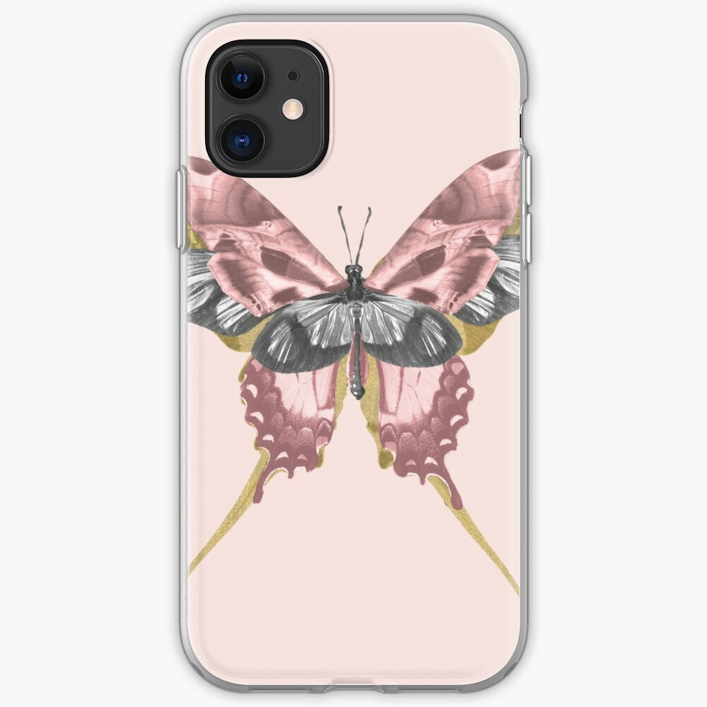 Pink Butterfly - nature, collage iPhone Case & Cover