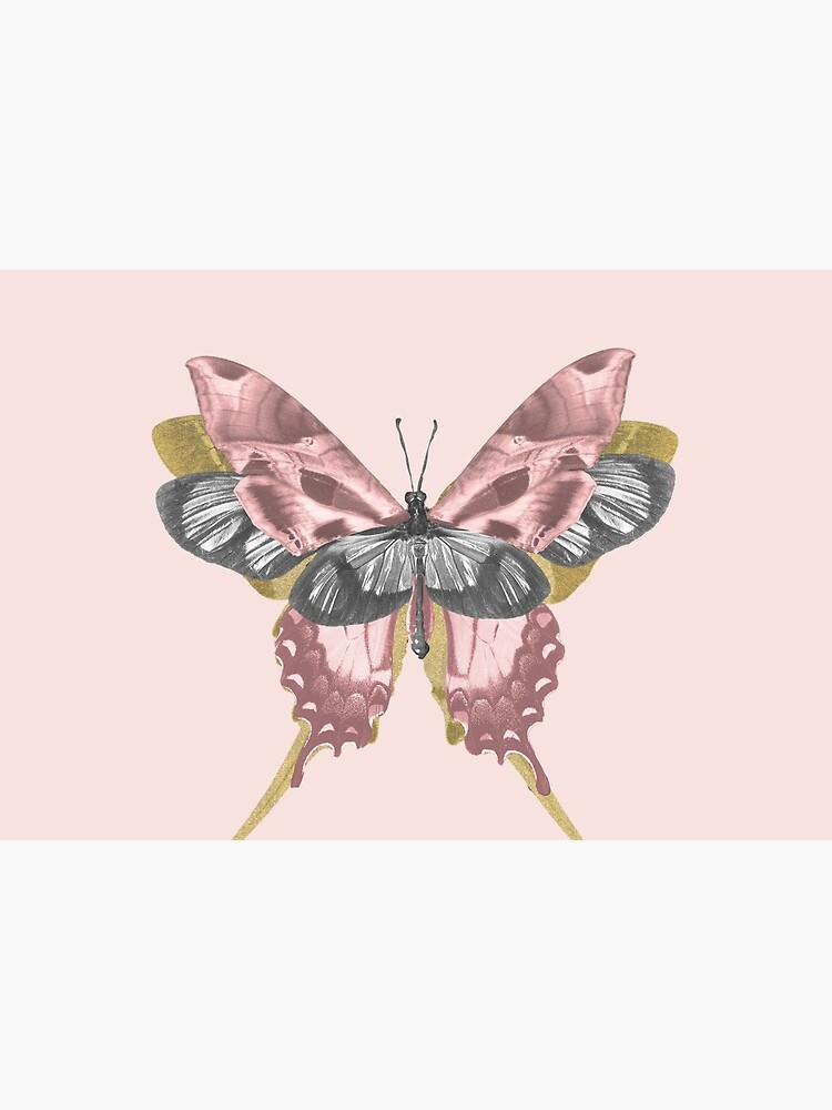 Pink Butterfly - nature, collage by ilariaantolini