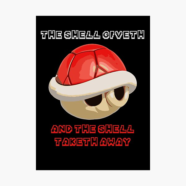 The Shell giveth, and The Shell taketh away Photographic Print