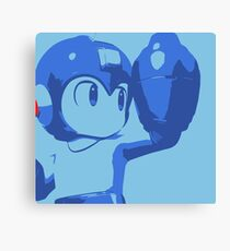 The Blue (and cyan) Bomber Canvas Print