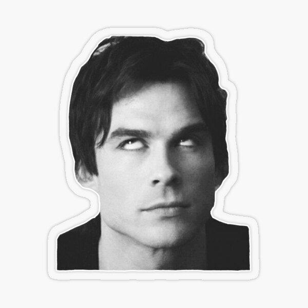 Damon Salvatore- Eye Roll  Transparent Sticker