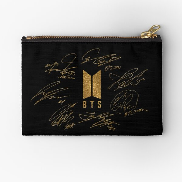 BTS - Logo with new signatures 2020 (gold) Zipper Pouch