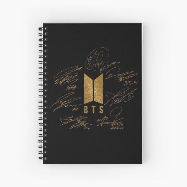 BTS - Logotipo con nuevas firmas 2020 (oro) Cuaderno de espiral