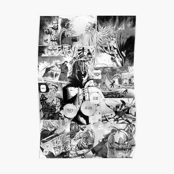 Vinland Saga Manga Collage Poster
