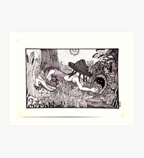 Country Girl: Critter Hunting Art Print