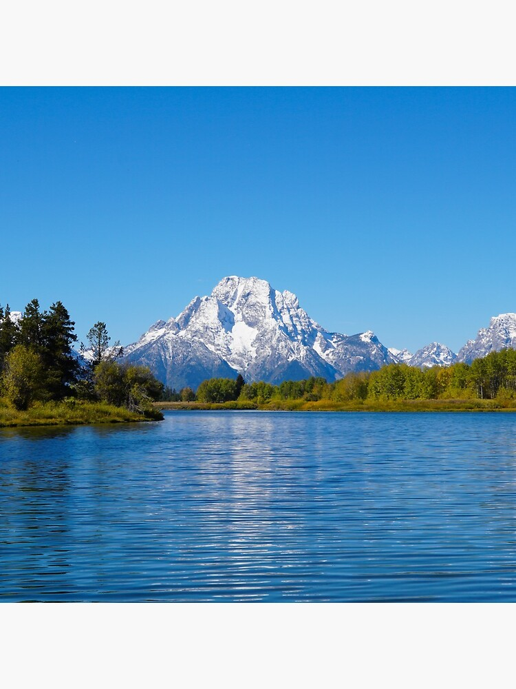 View of the Teton Peaks from the Snake River by MomentofPercep