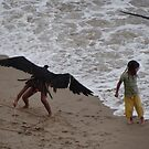 Eagle Catching A Girl: LOL - Aguilar Atrapando Una Niña: Carcajeando by Bernhard Matejka