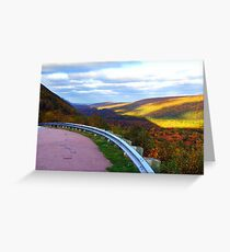 Golden Glow of Autumn Greeting Card