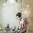 Tea and butterflies by kseniako