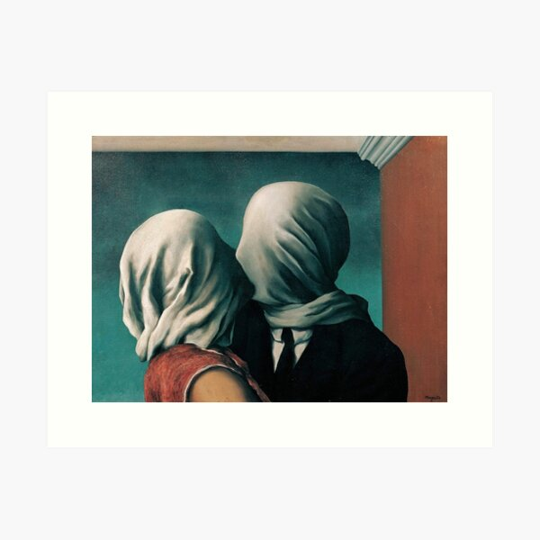 Rene Magritte The Lovers  Art Print