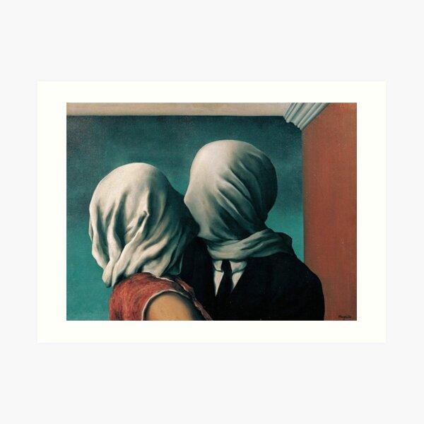 Rene Magritte Los Amantes Lámina artística