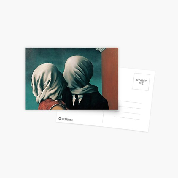 Rene Magritte The Lovers  Postcard