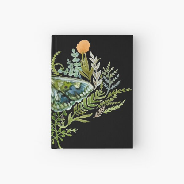 Moth with Plants Hardcover Journal