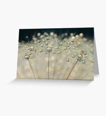 Midnight Blue Dandy Sparkles Greeting Card