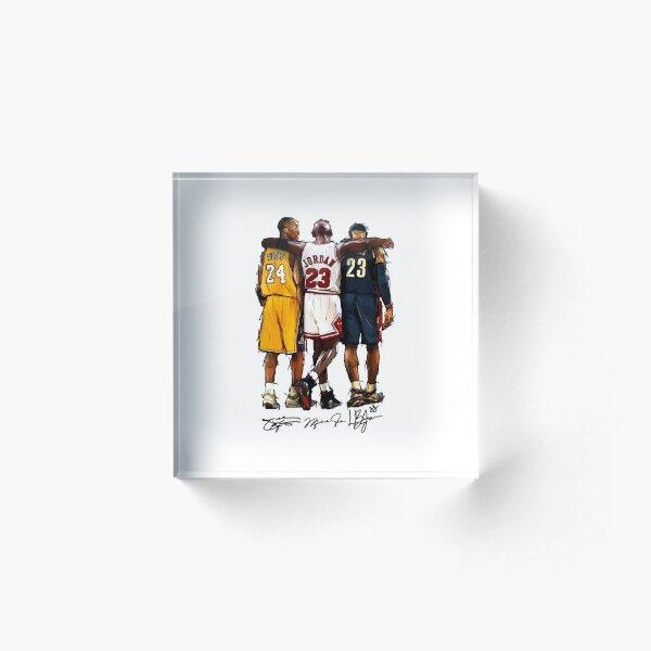 Kobe Michael LeBron - Together Acrylic Block