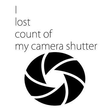I lost count of my camera shutter by jollence