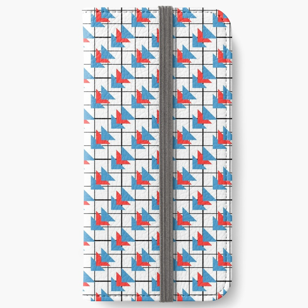 Modern Geometric Pattern - Colorful Triangles iPhone Wallet