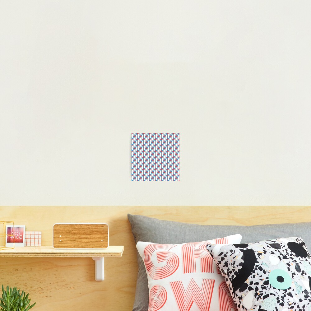 Modern Geometric Pattern - Colorful Triangles Photographic Print