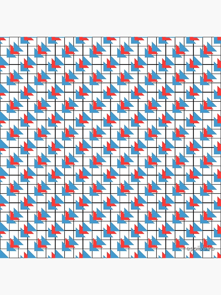 Modern Geometric Pattern - Colorful Triangles by epoliveira