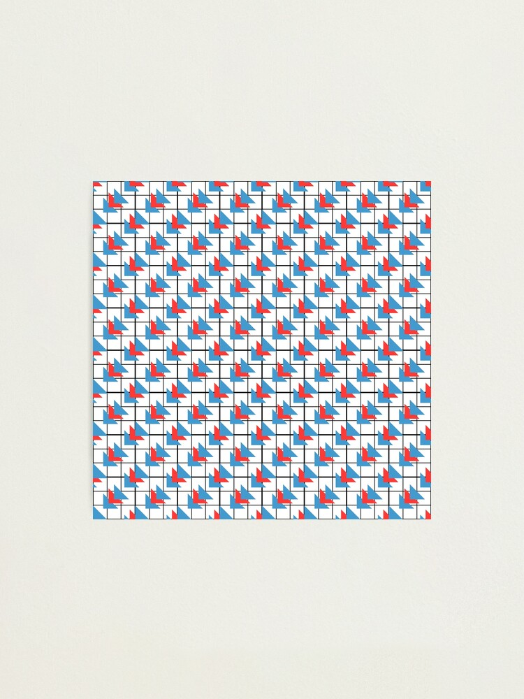 Alternate view of Modern Geometric Pattern - Colorful Triangles Photographic Print