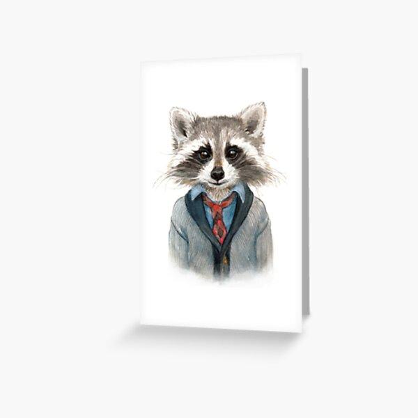 Raccoon in Sweater Greeting Card